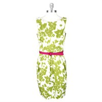 Jessica Howard Printed Cotton-Blend Dress with Contrasting Belt at Von Maur
