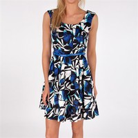 Donna Ricco Printed Fit-and-Flare Dress at Von Maur