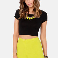 Palm Tree Breeze Chartreuse Shorts