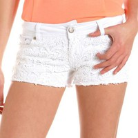 Hot Kiss Crochet Front Short: Charlotte Russe