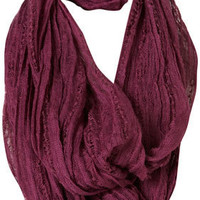 Purple Textured Trim Snood - Topshop USA