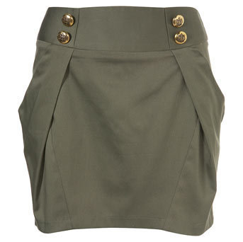 Gold Button Mini Skirt - Skirts &amp; Pants - Topshop USA