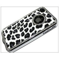 Luxury Unique Best Leopard Print Czech Rhinestone Case Cover for Apple Iphone 4