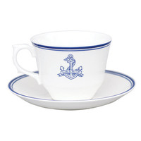 Nautical Cup & Saucer - Luna & Curious