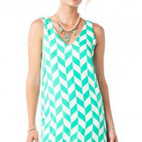 Viceroy Tank Shift in Mint - ShopSosie.com