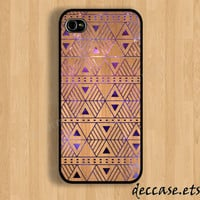 IPHONE 5 CASE wood AZTEC geometric triangle galaxy iPhone 4 case iPhone 4S case iPhone case Hard Plastic Case Soft Rubber Case