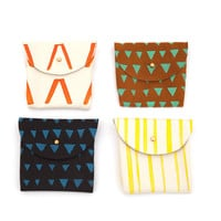 Printed Leather Coin Pouches - Half Hitch Goods
