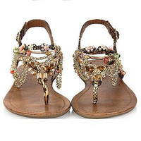 New Fashion Diamond bohemian Sandals Shoes