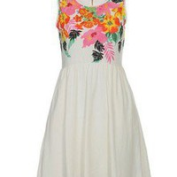 wishlove — vivi print flower retro dress