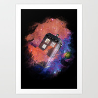TARDIS Art Print by Martha B. Ortiz