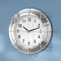 Metal Cage Wall Clock