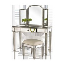 Hayworth Ivory Bench - Silver