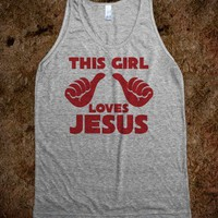 This Girl Loves Jesus Hipster Tank Top - 785 Tees - Skreened T-shirts, Organic Shirts, Hoodies, Kids Tees, Baby One-Pieces and Tote Bags