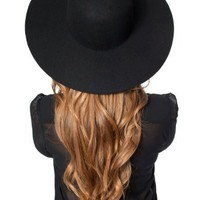 Amazon.com: Wool Floppy Hat Black: Clothing