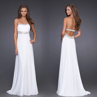 Sexy Simple Elegant  Rhinestone Dress