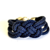 Sailor Knot Bracelet Navy Blue by DobleEle on Etsy
