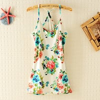 Vintage Flower Flexible Vest For Summer