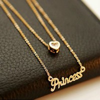 Rhinestone Princess Necklace