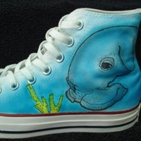 Seascape Custom Designed Shoes | inkwear99 - Clothing on ArtFire