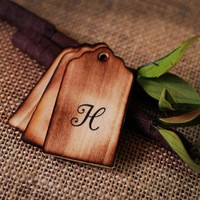 Personalized Wooden Wishing Tree Tags Monogram with Rustic Twig Pen...... | roxyheartvintage - Wedding on ArtFire