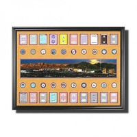 Legendary Sports Prints Las Vegas Strip Photo with Casino Chips - VS001 - All Wall Art - Wall Art & Coverings - Decor