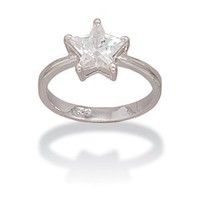 Patriotic CZ Star Design Ring
