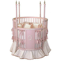 Pink Versailles Round Crib : All Baby Cribs at PoshTots