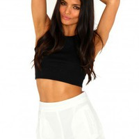 Missguided - Nicole Scallop Detail Shorts In Cream