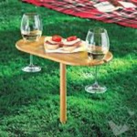 Tovolo Outdoor Wine Bamboo Table