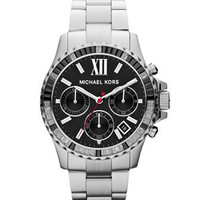 Michael Kors  Mid-Size Silver Color Stainless Steel Everest Chronograph Watch