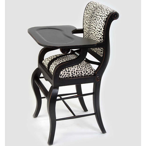 Sleigh Highchair In Leopard : Highchairs at PoshTots