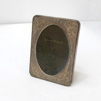 Vintage 1970s silver plated mini photo frame
