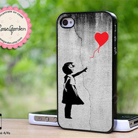 Banksy Balloon Girl iPhone 4 Case, iPhone 4s Case, iPhone Case, iPhone Hard Case, iPhone 4 Cover, iPhone 4s Cover