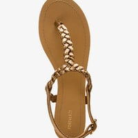 Glittering Braided Thong Sandals