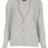 Knitted Textured Grunge Cardi - Cardigans - Knitwear - Clothing - Topshop USA