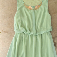 Wingspan Dress in Sage [4006] - $42.00 : Vintage Inspired Clothing & Affordable Summer Frocks, deloom | Modern. Vintage. Crafted.