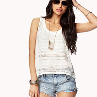 Semi-Sheer Floral Lace Tank