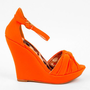 Ceduce Knotted Wedges in Neon Orange :: tobi