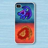 Twin lion king with aztec : Case For Iphone 4/4s ,5 / Samsung S2,3,4