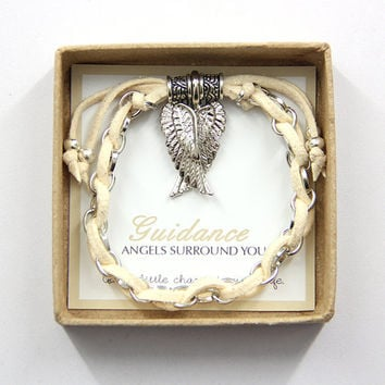 "Guardian Angel ""Wings"" Charm Bracelet in Gift Box"
