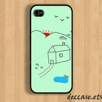 IPHONE 5 CASE Childhood House drawing funny  iPhone 4 case iPhone 4S case iPhone case Hard Plastic Case Soft Rubber Case