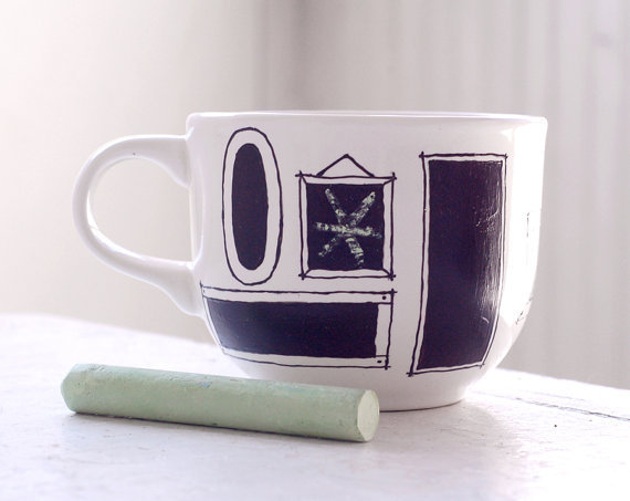 $14.00 custom chalkboard mug  picture frames by wandersketch