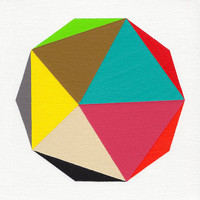 "Giclee print - ""Decagon"" - 13"" x 13"" modern geometric abstract art"