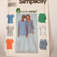 Uncut Simplicity 8351 Misses Nursing Scrubs Top Blouse Sewing Pattern by MoomettesCrochet