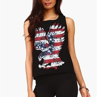 Flying USA Tank - Black