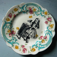 Alice in Wonderland Vintage China Tea Plate Wall Decor
