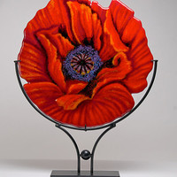 Red Empress by Anne Nye: Art Glass Sculpture - Artful Home