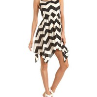 Chevron Stripe Hanky Hem Dress: Charlotte Russe
