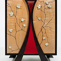Shinto Emperor  His Queen by Alison SwannIngram and Carl Johnson: Wood Cabinet - Artful Home