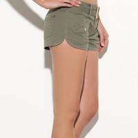  G by GUESS Thayla Belted Twill Shorts
